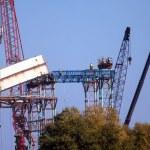 Bridge construction works — Stock Photo