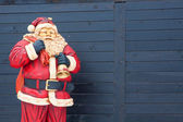 Weihnachtsmann dekoration puppe — Stockfoto