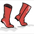 Stock Vector: Red boots