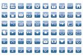 60 universele web pictogrammen instellen — Stockvector