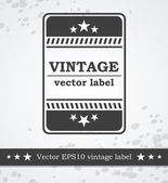 Black label with retro vintage styled design — Stockvector