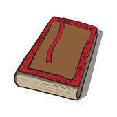 Old book. Vector icon. Hand drawn illustration — Vettoriale Stock