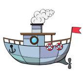 Cartoon ship. Vector illustration — Stock Vector
