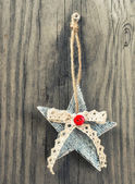 Christmas decoration on wooden background. — Стоковое фото
