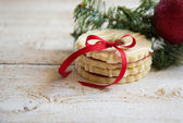 Cookies with christmas decoration — Stock Photo
