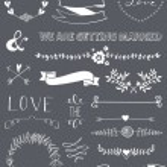 Wedding graphic set — Stock Vector #35791763