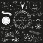 conjunto de la Navidad del doodle pizarra — Vector de stock  #35791469
