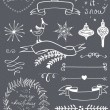 Christmas chalkboard graphic set. — Vector de stock