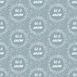 Let it snow seamless pattern. — Stock Vector