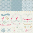 Scrapbook Christmas Design Elements — Stock Vector #35791609