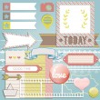 Vector scrapbook elements — Stock Vector
