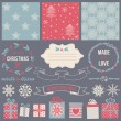 Scrapbook Christmas Design  — Stock Vector