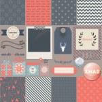 Scrapbook Christmas Design Elements — Stock Vector