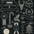 Christmas Hand Drawn Vector Set — Stock Vector