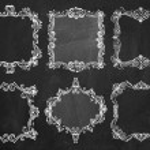 Chalkboard hand drawn frames — Stock Vector #35791977