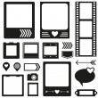Silhouette scrapbook elements — Stok Vektör