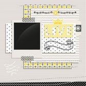 グレーと黄色のデザイン要素 — ストックベクタ