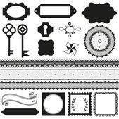 Vector scrapbook elements — Stock Vector