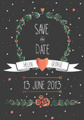 Save the date wedding invitation — Stock Vector
