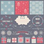 Scrapbook Christmas Design — Stock Vector
