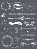 Wedding graphic set — Stock Vector
