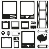Silhouette scrapbook elements — Vector de stock