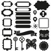 Silhouette scrapbook elements — Stock Vector