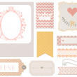 Vintage scrapbook elements — Stock Photo
