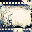 Blank grained film strip texture — Stock Photo