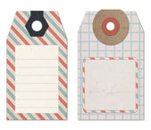 Vintage Style Tags for Design or Scrapbooking — Stock Photo