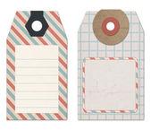 Tag di stile vintage per la progettazione o scrapbooking — Foto Stock