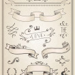 Vintage Wedding graphic set — Imagen vectorial