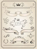 Vintage Wedding graphic set — Stock Vector