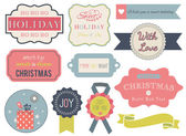 Collection of christmas ornaments and decorative elements — ストックベクタ