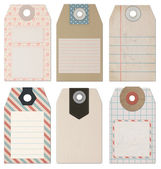 Set of 6 computer designed high resolution vintage Style Tags — Stock Photo