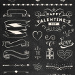 Chalk Valentine's day design elements — Stock Vector #40203475