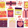 Stock Vector: Collection of Valentine's Day present boxes