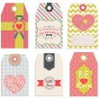 Collection of Valentine's Day tags — Stock Vector