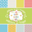 Easter design elements and seamless backgrounds — Stock Vector