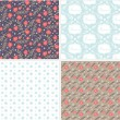 Set of floral seamless pattern — Stock Vector #40203693