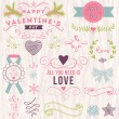 Valentine's day design elements collection — Stock Vector #40203727