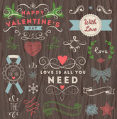 Valentine's day design elements — Vector de stock