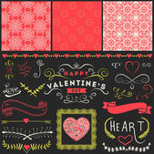 Valentine's Day and Wedding graphic set — Stock Vector