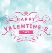 Valentine's Day Typographical greeting — Stock Vector