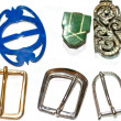 Collection of vintage buckles — Stock Photo