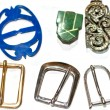 图库照片: Collection of vintage buckles