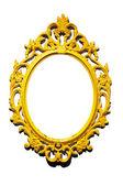 Cadre isolé or miroir classique victorien — Photo