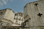 Thai ancient fortress wall — Stock Photo