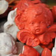Stockfoto: Little ceramic ornaments of cute cupids