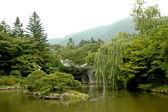 Peaceful Japanese zen garden — Stock Photo